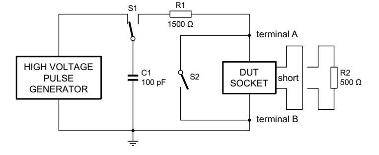 体模型ESD模拟仿真的典型电路